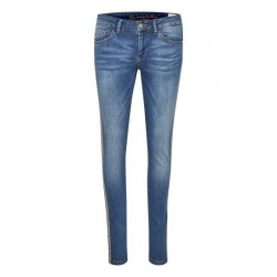 "Jeans m/ stribe - Culture ""Jeannina fit"""