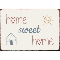 "Metalskilt ""Home Sweet Home"" - Ib Laursen"