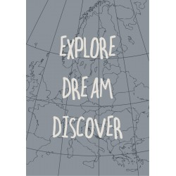 "Metalskilt ""Explore Dream Discover"" - Ib Laursen"