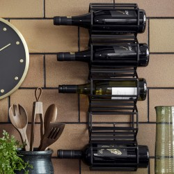 Wine rack, iron, black col.