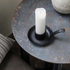 HD, 6C, Candle stand, Claus, Black, (candle/dia: 4