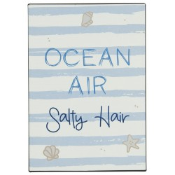 "Metalskilt ""Ocean Air Salty Hair"" - Ib Laursen"