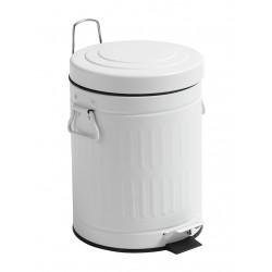 Pedalspand - Hvid - Nordal - Toiletspand 5 ltr.
