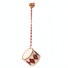 Metal ornament, Small drum - Red