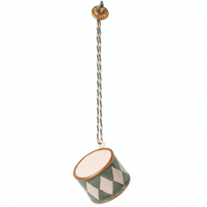 Metal ornament, Small drum - Blue