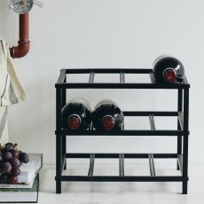LORENZO wine rack, S, black