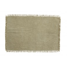 ATRIA placemat, dusty green, fringes