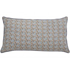 COSMO cushion cover, blue/brown flowers